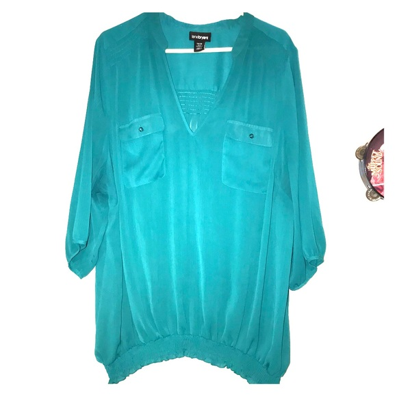 17faeae4 Lane Bryant Tops | Terrific In Teal Plus Size Top In 26w 28w | Poshmark